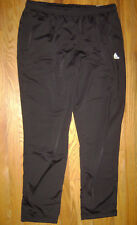 NWT Adidas Men Pants Track Jogging Size XL EXTRA LARGE SOLID BLACK REFEREE
