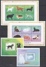 R1199 ANGOLA FAUNA DOMESTIC ANIMALS PETS DOGS & CATS 2BL+2KB MNH STAMPS