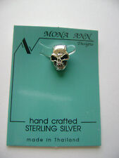 Sterling Silver Small 3D Skull Pendant New