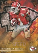 2014 TOPPS VALOR De'ANTHONY THOMAS RB CHIEFS ROOKIE #79 SPEED