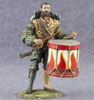 Toy Tin Soldier 1/32 scale Landsknecht with Drum Painted Figure 54mm Miniature