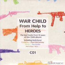 WAR CHILD: FROM HELP TO HEROES - PROMO 2 CD SET CD: BLUR KOOKS COLDPLAY MUSE ++