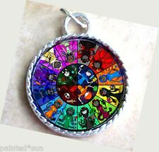 Homestuck God Wheel Game Comic Anime Silver plate Charm Pendant for Necklaces