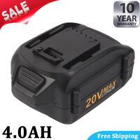 4.0Ah Li-ion 20V For WORX WA3520 WA3525 WG251s WG163 WG255 WG155 WG155.5 Battery