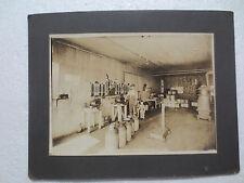 Cabinet Photograph Of Interior Of Dairy W/Centrifuge Cream Testers Circa 1910