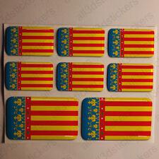 Pegatinas Valencia España Pegatina Bandera Adhesivo Ciudad 3D Relieve Resina