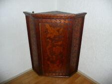 19th century English wine hanging corner cabinet