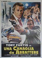 """""""TITLE SHOT"""" Affiche originale italienne entoilée (Tony CURTIS)"""