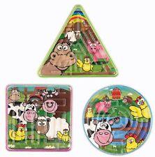 Maze Farm Animals Puzzle 7cm Pig Sheep Cow Chicken Gift Party Bag Pocket Money