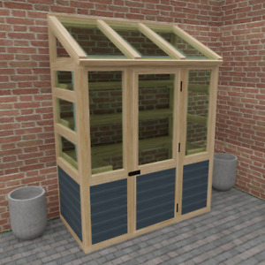 Wooden Lean To Greenhouse 3 x 6 ft (Build Plans Only No Materials)