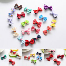 20PC Handmade Accessories Hairpins Bow Hair Clip Alligator Clips Girls Ribbon UK