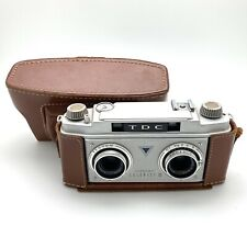 TDC Vintage Stereo Colorist II Camera W/ Original Leather Case, Good Condition.