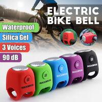 ROCKBROS 90db Bike Handlebar Bell Electric Ring Horns Sound Alarm Safety