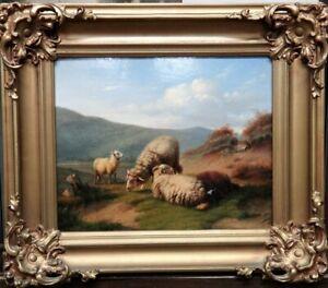 Sheep in a landscape, follower of Eugene Verboeckhoven