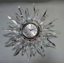 "SWAROVSKI CRYSTAL   ""SOLARIS""   TABLE CLOCK  221626  RETIRED MINT IN BOX REDUCED"