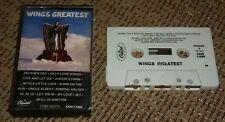 Wings Greatest Hits Paul Linda McCartney Cassette Tape Jet Silly Love Songs RARE