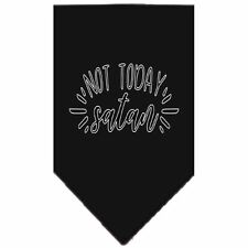 Not Today Satan Screen Print Bandana Black