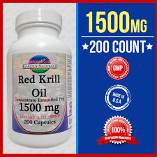 RED Krill Oil 200 Capsules Max-1500 MG Omega-3 Fatty Acids-EPA-DHA -Astaxanthin