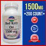 RED Krill Oil 200 Caps 1000mg+500 =1500 Omega-3 Fatty Acids-EPA-DHA -Astaxanthin