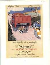 1929 Hansom Red Metal Boxes Prats Motor Oil Vintage Ads