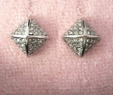 Auth Juicy Couture Pave Silver Cube Stud Earrings Studs $48
