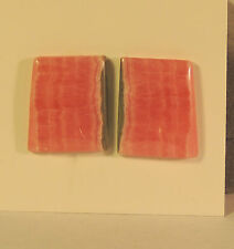 Pink Rhodochrosite Cabochon 19x16mm set of 2 (4716)