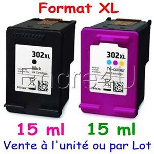 Cartouches d'encre compatibles HP302 XL HP 302 XL ( Noir ou Couleurs ) x 1 2 3 4