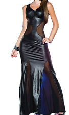 Lycra Abend langes Kleid, schwarz / Lycra Evening Long Dress, black