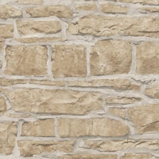 ARTHOUSE REALISTIC RUSTIC OLD CHURCH STONE BRICK WALL FEATURE WALLPAPER 697100