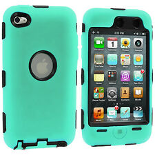 DELUXE MINT GREEN 3-PIECE HARD/SKIN CASE+PROTECTOR COVER FOR IPOD TOUCH 4TH GEN