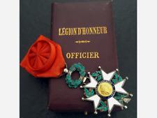 LEGION D'HONNEUR  OFFICIER EN OR POINCON TETE D'AIGLE - ARGENT ET EMAIL + ECRIN
