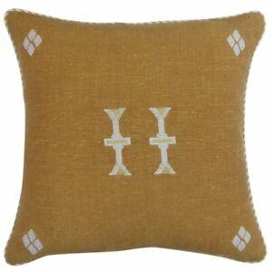 "NWT Threshold 18""x18"" Global Throw Accent Decor Pillow Bronze"