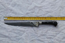 OLD MUGHAL INDO PERSIAN ISLAMIC OTTOMAN SILVER DAMACENED KARD DAGGER BONE HANDLE