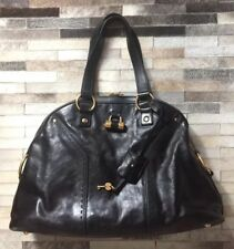 YSL Large Muse Handbag - Black Leather