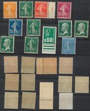 Frankreich,  Lot alter Marken xx, 2 mit Haftspuren, 143 xx (schwacher Bug) #l242