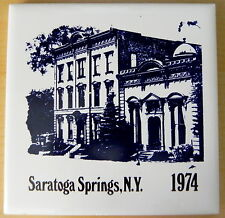 """1974 Limited Edition Canfield Casino Saratoga 4 1/4"""" Tile by H & R Johnson Ltd."""