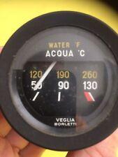 Veglia Borletti Water Acqa Gauge Black Bezel 52mm Suit Vintage Ferrari Lancia