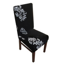 Dining Room Wedding Banquet Chair Cover Party Decor Seat Cover Stretch - Blac FP