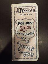 J.C. Penny Shelton,WA 25th Anniversary Notebook and Calendar 1927