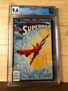 Superman #77 (Mar 1993, DC) CGC 9.6 Funeral For A Friend part 8 Supergirl app