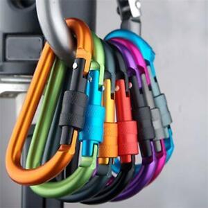 QUALITY Locking Aluminium carabiner clip Clasp Hook Keyring Camping Carabina