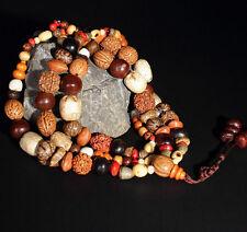 108 Bodhi Seed Prayer Beads Mala Bracelet Tibet Buddhist Lucky blessing Necklace