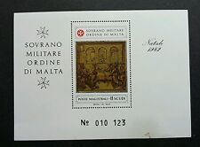 Malta Sovereign Military Order Of Malta 1982 (miniature sheet) MNH *see scan