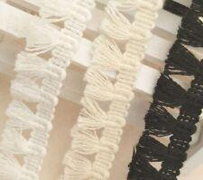 Zierband Posamentenborte DIY Deko Quastenborte Beige 182x4.5cm Troddel Baumwolle