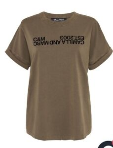 C&M Camilla and Marc Huntington 2.0 Tee Roll Sleeve Logo T shirt
