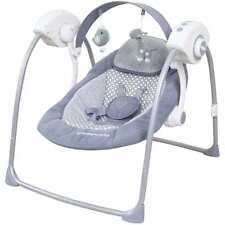 Automatische Elektrische Babyschaukel Baby Wiege Wippe Musik Timer grau Neu