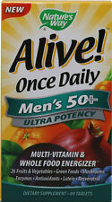 Alive Once Daily Men's 50+ Multi-Vitamin, Nature's Way, 60 tablet