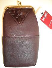 Classic Nostalgic Genuine Leather 3 Pocket FLORAL Cigarette Case,Chocolate