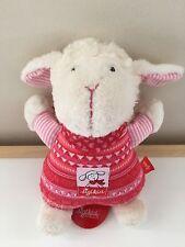 """Sigikid 8"""" Plush Music Box Pull Toy Stuffed Lamb Animal Germany"""