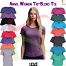 Anvil Women's Triblend Tee Ladies Semi Fitted Crew Neck Soft Casual T-Shirt TOP